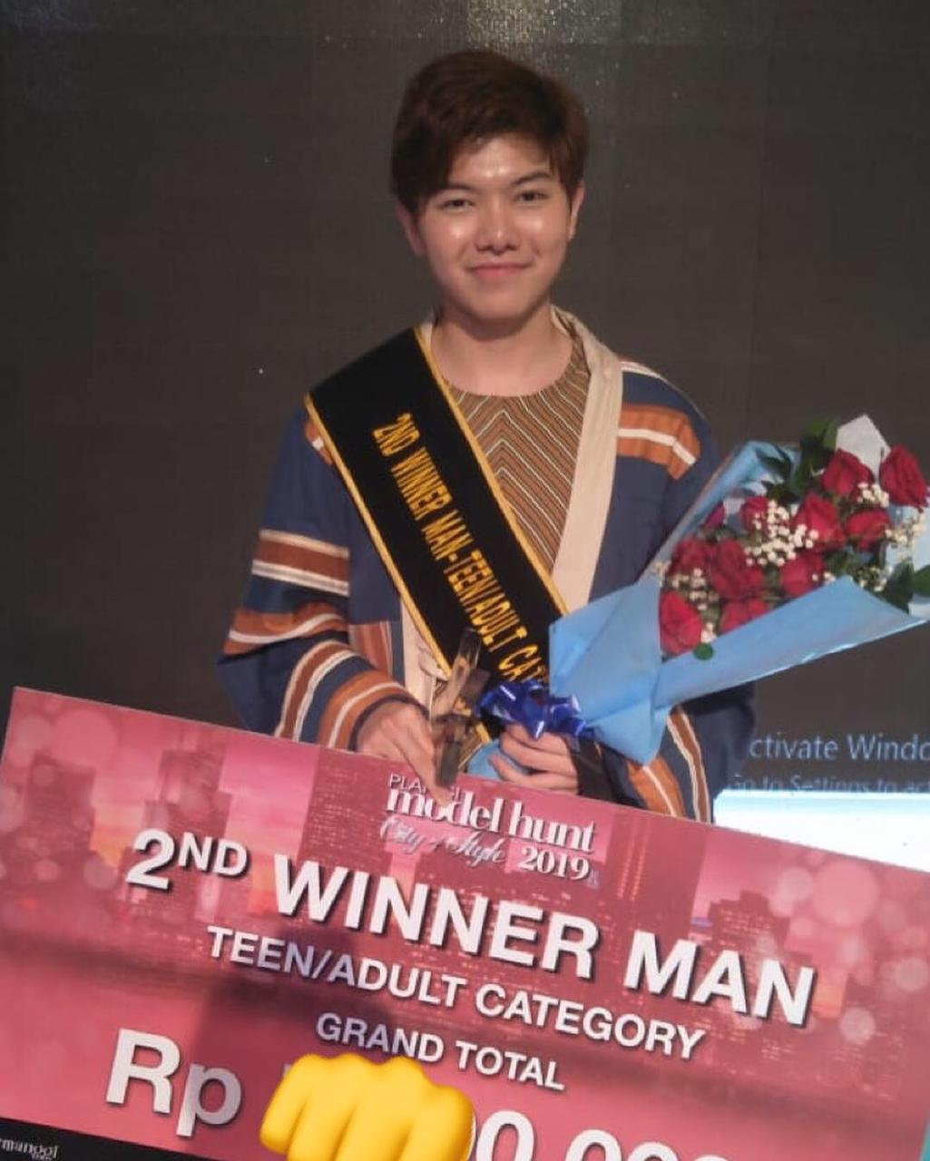 Andika Kelas 11 2nd Winner Man Model Hunt Teen/Adult Category